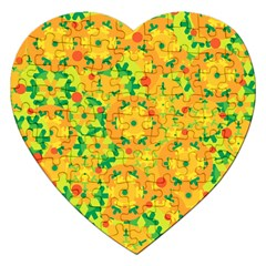 Christmas Decor   Yellow Jigsaw Puzzle (heart) by Valentinaart