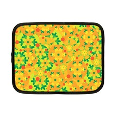 Christmas Decor   Yellow Netbook Case (small)  by Valentinaart