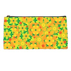 Christmas Decor   Yellow Pencil Cases by Valentinaart