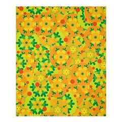 Christmas Decor   Yellow Shower Curtain 60  X 72  (medium)  by Valentinaart