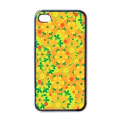 Christmas Decor   Yellow Apple Iphone 4 Case (black) by Valentinaart