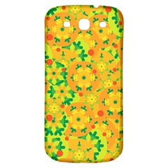 Christmas Decor   Yellow Samsung Galaxy S3 S Iii Classic Hardshell Back Case by Valentinaart