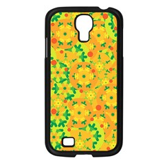 Christmas Decor   Yellow Samsung Galaxy S4 I9500/ I9505 Case (black) by Valentinaart