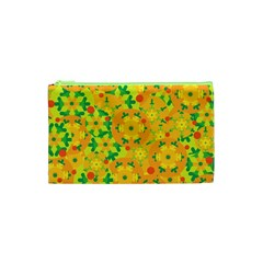 Christmas Decor   Yellow Cosmetic Bag (xs) by Valentinaart