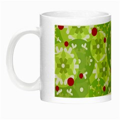 Green Christmas Decor Night Luminous Mugs by Valentinaart