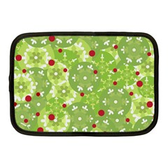 Green Christmas Decor Netbook Case (medium)  by Valentinaart