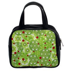 Green Christmas Decor Classic Handbags (2 Sides) by Valentinaart