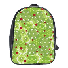 Green Christmas Decor School Bags(large)  by Valentinaart