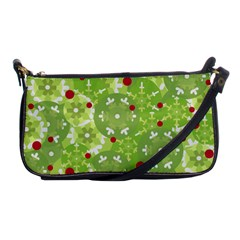 Green Christmas Decor Shoulder Clutch Bags by Valentinaart