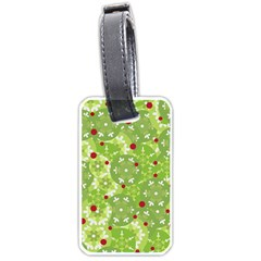 Green Christmas Decor Luggage Tags (one Side)  by Valentinaart