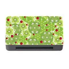 Green Christmas Decor Memory Card Reader With Cf by Valentinaart