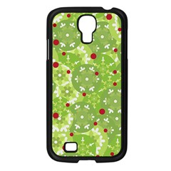 Green Christmas Decor Samsung Galaxy S4 I9500/ I9505 Case (black) by Valentinaart