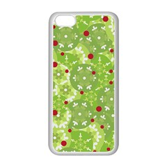 Green Christmas Decor Apple Iphone 5c Seamless Case (white) by Valentinaart