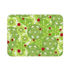 Green Christmas Decor Double Sided Flano Blanket (mini)  by Valentinaart