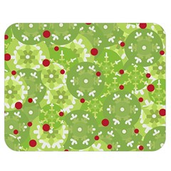 Green Christmas Decor Double Sided Flano Blanket (medium)  by Valentinaart