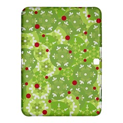 Green Christmas Decor Samsung Galaxy Tab 4 (10 1 ) Hardshell Case  by Valentinaart