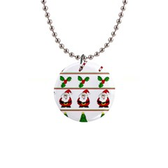 Christmas Pattern Button Necklaces
