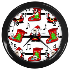 Christmas Song Wall Clocks (black) by Valentinaart