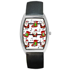 Christmas Song Barrel Style Metal Watch by Valentinaart