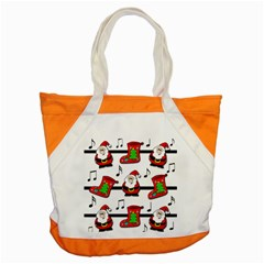 Christmas Song Accent Tote Bag by Valentinaart