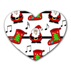 Christmas Song Heart Mousepads by Valentinaart