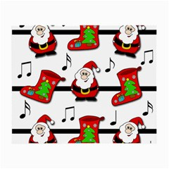 Christmas Song Small Glasses Cloth (2 Side) by Valentinaart
