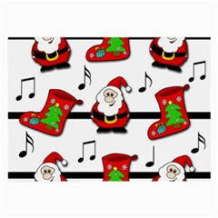 Christmas Song Large Glasses Cloth (2 Side) by Valentinaart