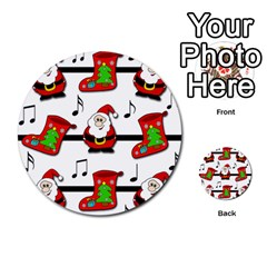 Christmas Song Multi Purpose Cards (round)  by Valentinaart
