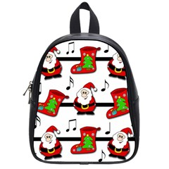 Christmas Song School Bags (small)  by Valentinaart