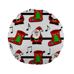 Christmas Song Standard 15  Premium Round Cushions by Valentinaart