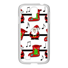 Christmas Song Samsung Galaxy S4 I9500/ I9505 Case (white) by Valentinaart