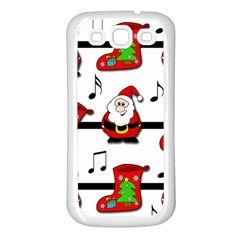 Christmas Song Samsung Galaxy S3 Back Case (white) by Valentinaart
