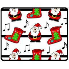 Christmas Song Double Sided Fleece Blanket (medium)  by Valentinaart