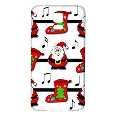 Christmas Song Samsung Galaxy S5 Back Case (white) by Valentinaart