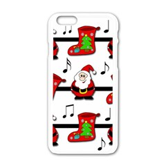 Christmas Song Apple Iphone 6/6s White Enamel Case