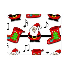 Christmas Song Double Sided Flano Blanket (mini)  by Valentinaart