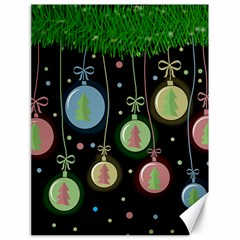 Christmas Balls   Pastel Canvas 18  X 24   by Valentinaart