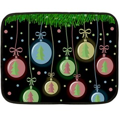 Christmas Balls   Pastel Double Sided Fleece Blanket (mini)  by Valentinaart