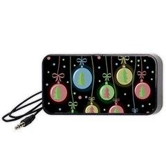 Christmas Balls   Pastel Portable Speaker (black)  by Valentinaart