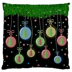 Christmas Balls   Pastel Standard Flano Cushion Case (one Side) by Valentinaart