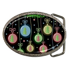 Christmas Balls   Pastel Belt Buckles by Valentinaart