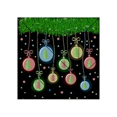 Christmas Balls   Pastel Acrylic Tangram Puzzle (4  X 4 ) by Valentinaart