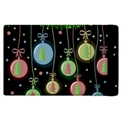 Christmas Balls   Pastel Apple Ipad 3/4 Flip Case by Valentinaart