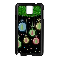 Christmas Balls   Pastel Samsung Galaxy Note 3 N9005 Case (black) by Valentinaart