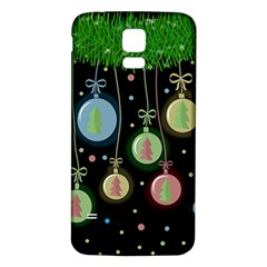 Christmas Balls   Pastel Samsung Galaxy S5 Back Case (white) by Valentinaart