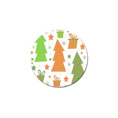 Christmas Design   Green And Orange Golf Ball Marker (10 Pack) by Valentinaart