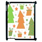 Christmas design - green and orange Apple iPad 2 Case (Black) Front
