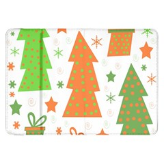 Christmas Design   Green And Orange Samsung Galaxy Tab 8 9  P7300 Flip Case