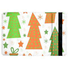 Christmas Design   Green And Orange Ipad Air 2 Flip by Valentinaart