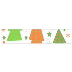 Christmas Design   Green And Orange Flano Scarf (small)